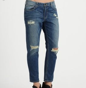 JOE'S Destroyed Easy High Water Jeans